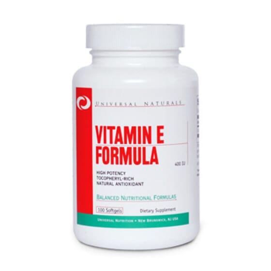 Vitamin E Formula 400UI 100 Softgels de Universal Nutrition