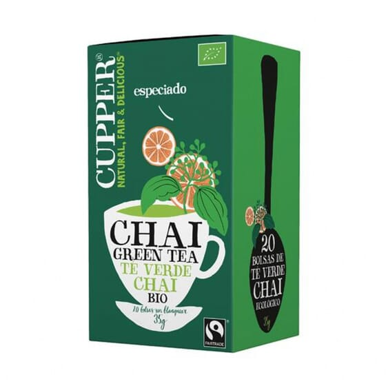 Chai Green Tea Bio 20 Infusões da Cupper