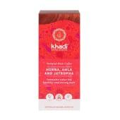 Henna Natural Con Amla y Jatropha Rojo 100g de Khadi