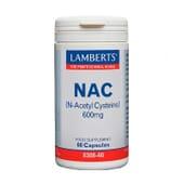 NAC (N-Acetil-Cisteína) 600 mg 60 Caps de Lamberts
