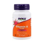 Vitamina A 1000 IU 100 Perlas de Now Foods