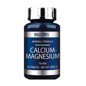Calcium Magnesium 750 mg 90 Tabs de Scitec Essentials