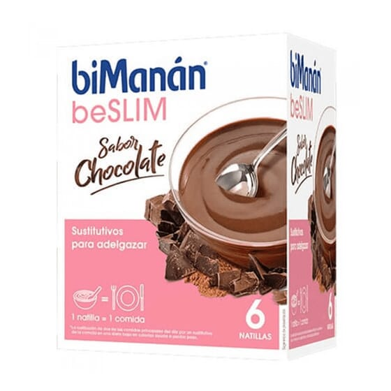 BeSlim Crème Dessert au Chocolat. 6 Sachets de Bimanán
