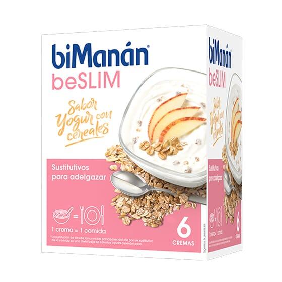 BeSlim Crema De Yogurt Con Cereales 52g 6 Sobres de Bimanán