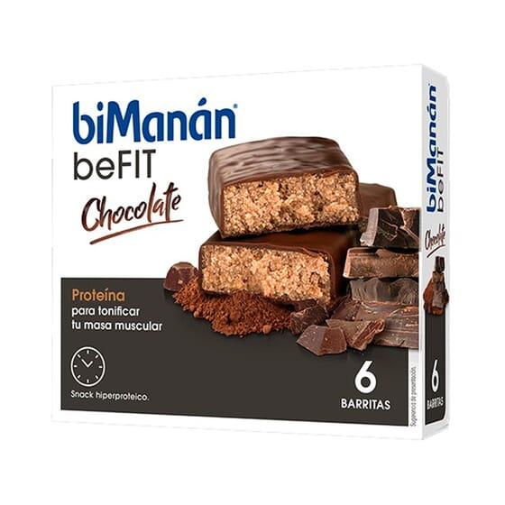 BeFit Barritas Chocolate 6 Barritas de Bimanán
