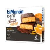 BeFit Barritas Chocolate Naranja 6 Barritas de Bimanán