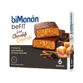 BeFit Barritas Chocolate Caramelo 6 Barrias de Bimanán