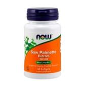 Extrato de Saw Palmetto 160 mg 60 Softgels da Now Foods