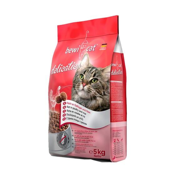 Croquettes Chat Adulte Delicaties 5 Kg de Bewi Cat