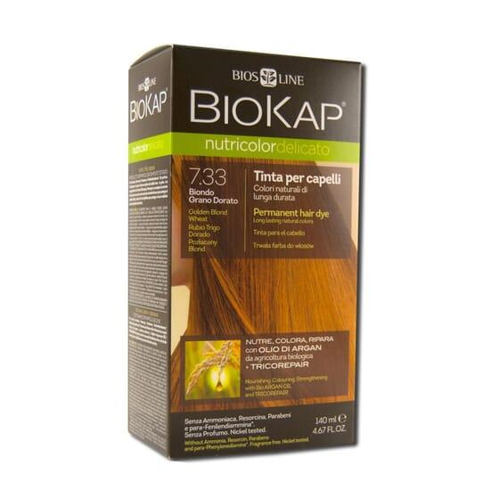 Nutricolordelicato Coloration Blond Blé Doré Bio 7.33 140 ml de Biokap