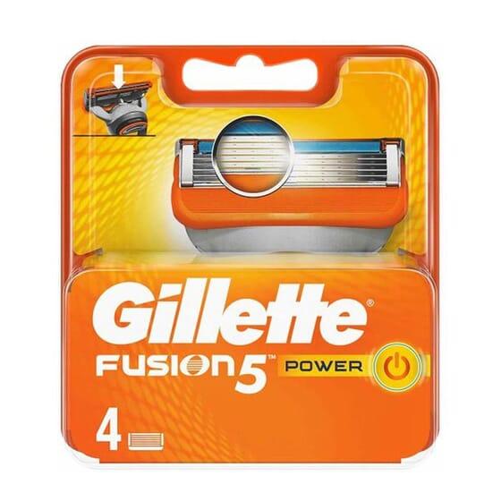 Gillette Fusion5 Power 4 Uds de Gillette