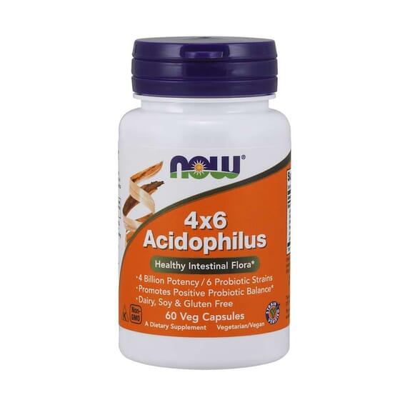4x6 Acidophilus 60 VCaps de Now Foods