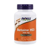 Betaine HCI 648 mg 120 VCaps de Now Foods