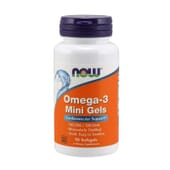 Ómega-3 Mini Gels 90 Pérolas da Now Foods
