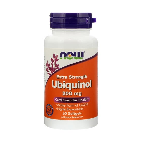 Extra Strength Ubiquinol 200 mg 60 Capsules molles de Now Foods