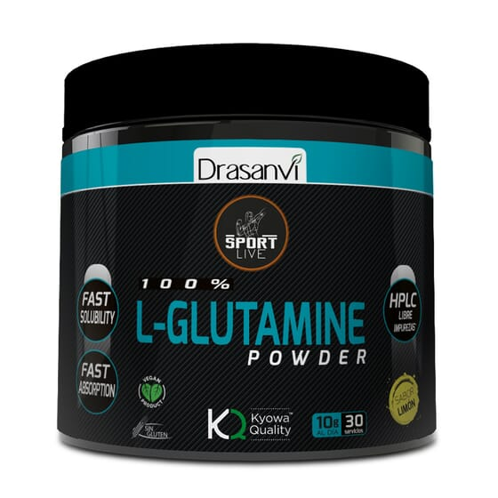 100% L-Glutamine Powder 300g de Drasanvi