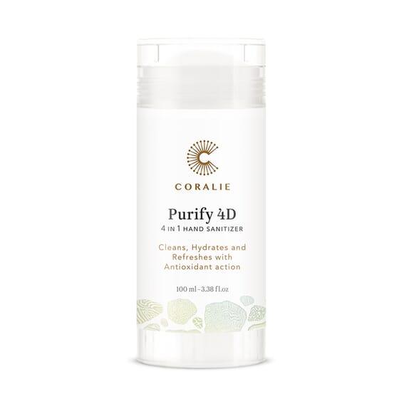 Purify 4D - Gel Hidroalcoólico de mãos 4 em 1 Bio 100 ml da Coralie