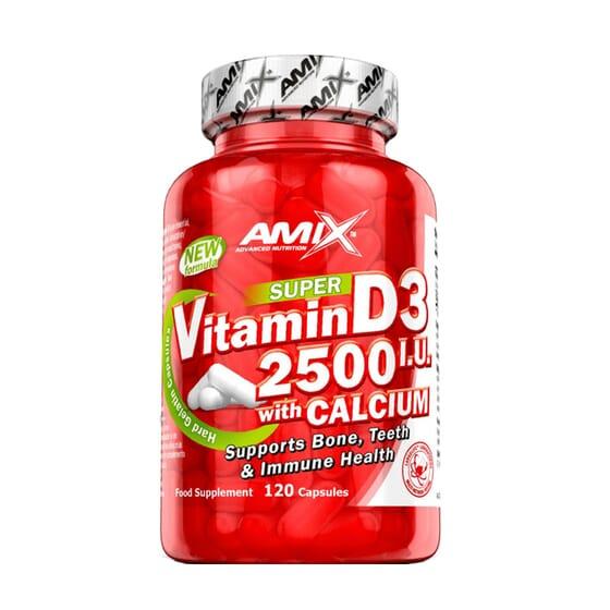 Super Vitamin D3 2500 IU With Calcium 120 Caps de Amix Nutrition