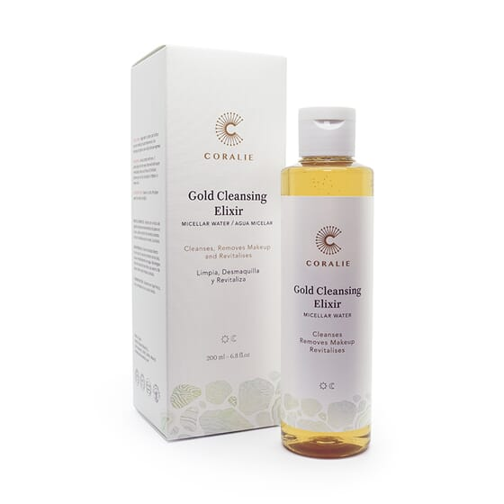 Gold Cleansing Elixir - Água Micelar Bio 200 ml da Coralie