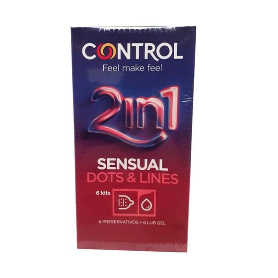 Control 2 In 1 Sensual Dots Lines 6 Unds da Control