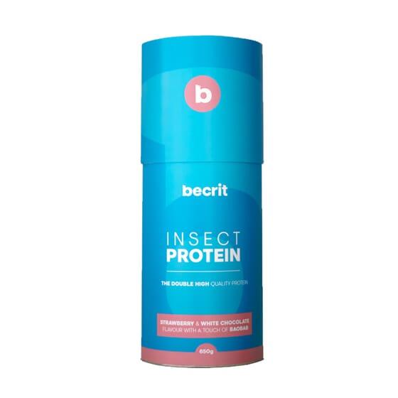 Insect Protein Fresa Chocolate Blanco Y Baobab 650g de BECRIT