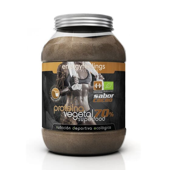 Superfood Proteína Vegetal 70% Cacau 1500g da Energy Feeling
