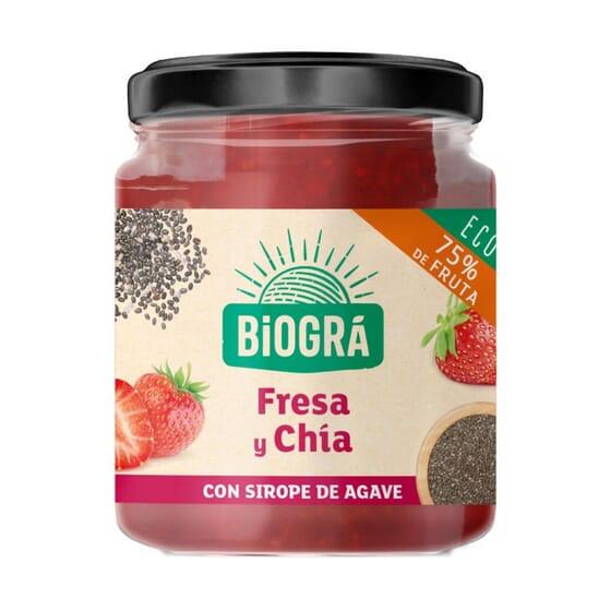 Marmelada Morango e Chia Bio 200g da Biogra