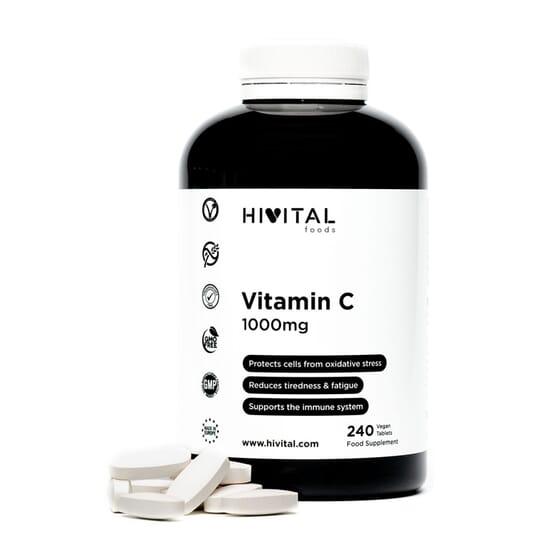 Vitamin C 1000 mg 240 Tabs da Hivital Foods