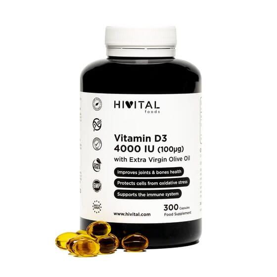 Vitamin D3 4000 iu 300 Caps da Hivital Foods
