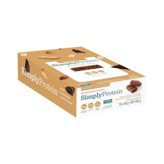 Barra Creme De Amendoim Com Chocolate 40g 12 Unds da Simply Protein
