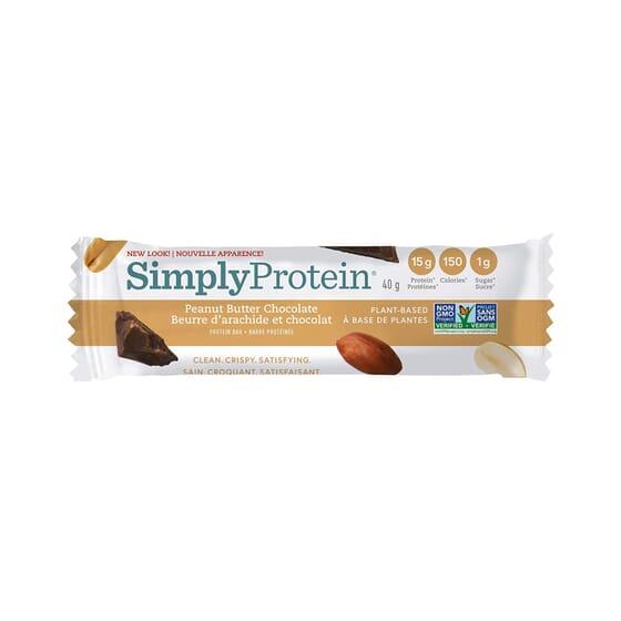 Barrita Crema De Cacahuete Chocolate 40g de Simply Protein