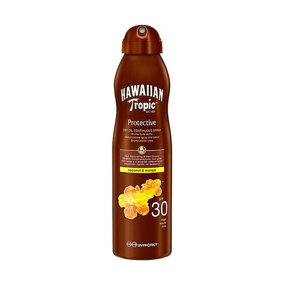 Protective Spray Óleo Seco Coco Manga SPF30 180 ml da Hawaiian Tropic