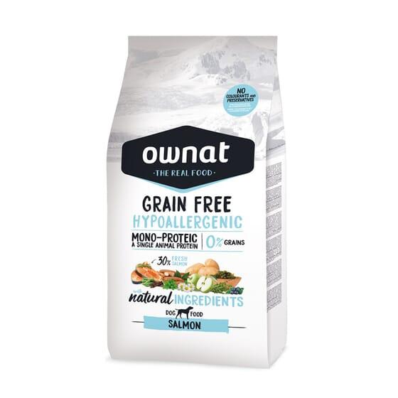 Grain Free Hypoallergenic Ração Cão Adulto Salmão 14 Kg da Ownat
