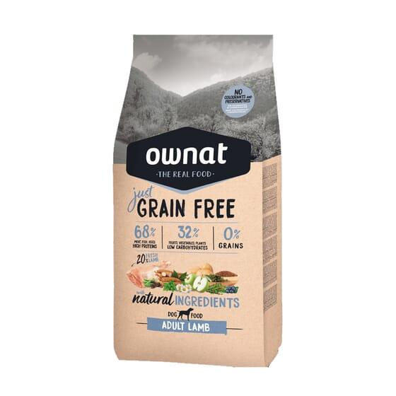 Just Grain Free Ração Cão Adulto Borrego 14 Kg da Ownat