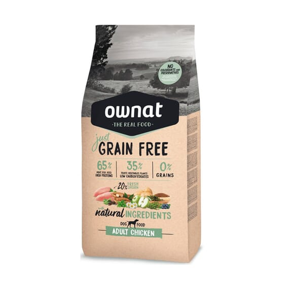 Just Grain Free Pienso Gato Adulto Pollo 3 Kg de Ownat