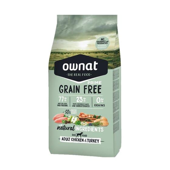 Prime Grain Free Pienso Perro Adulto Pollo Pavo 14 Kg de Ownat