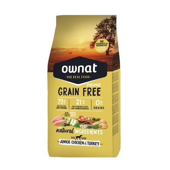 Just Grain Free Ração Cão Junior Frango Peru 14 Kg da Ownat
