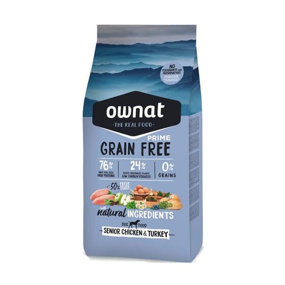 Prime Grain Free Ração Cão Senior Frango Peru 14 Kg da Ownat