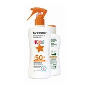 Spray Protetor Solar Kids SPF50 + Bálsamo Aloe Grátis  da Babaria