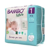 Fraldas 1 XS 2-4 Kg 22 Unds da Bambo