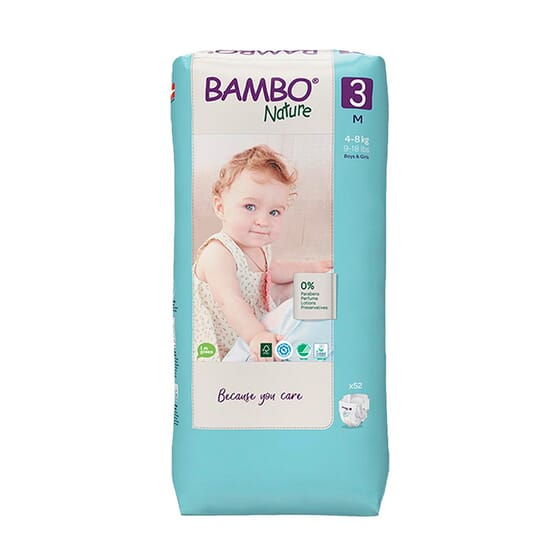 Fraldas 3 S 4-8 Kg 52 Unds da Bambo
