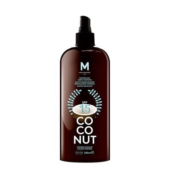 Coconut Suntan Oil Dark Tanning SPF15 200 ml da Mediterraneo Sun