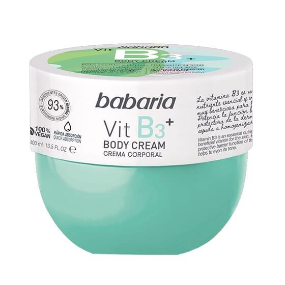 Creme Corporal Vitamina B3+ 400 ml da Babaria