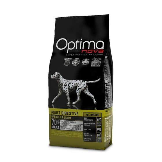 Ração Cão Adulto Digestive Coelho e Batata 2 Kg da Optima Nova