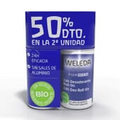 Duo For Men Déodorant 24h 2 x 50 ml de Weleda