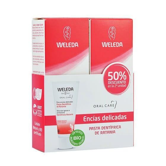 Dupla Pasta Dentífrica de Ratânia 2 x 75 mg da Weleda