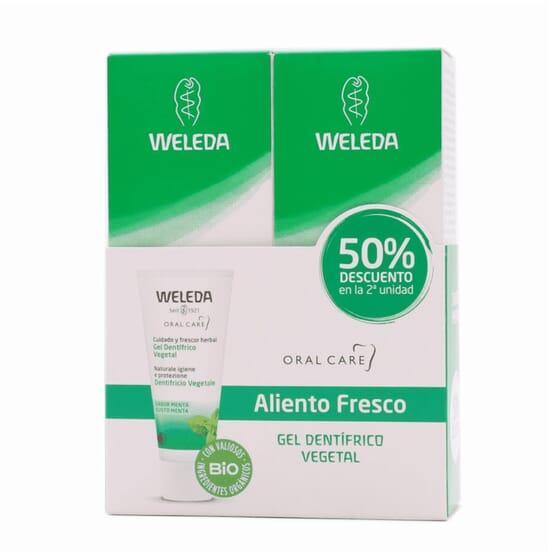 Duplo Gel Dentífrico Vegetal. 2 x 75 mg da Weleda