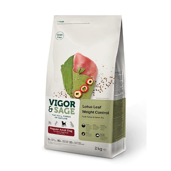 Ração Cão Adulto Controlo de Peso Lotus Leaf Peru 2 Kg da Vigor & Sage