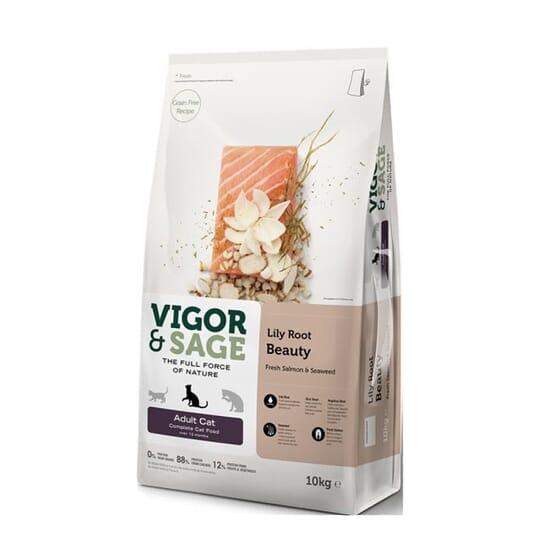 Ração Gato Adulto Lily Root Beauty Salmão 10 Kg da Vigor & Sage