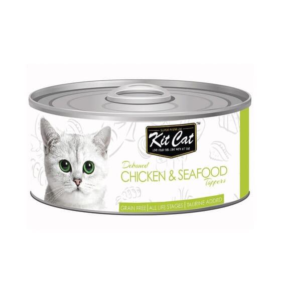 Comida Húmida Frango Com Atum 80g da Kit Cat